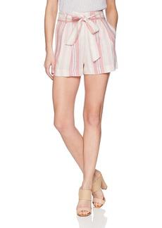 Parker Women's Sage High Waist Striped Linen Short