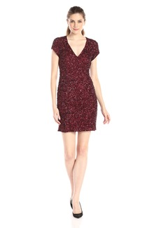 Parker Women's Serena Cap Sleeve All Over Embellished Dress