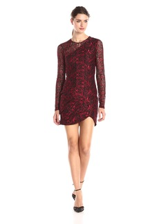 Parker Women's Shadow Lace Long-Sleeve Combo Dress