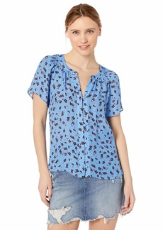 Parker Women's Shailene Short Sleeve Button Front Top  XS