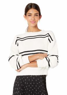 Parker Women's Shania Novelty Striped Long Sleeve Sweater  XXL