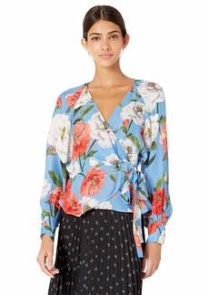 Parker Women's Sheridan Long Sleeve Wrap Blouse  L