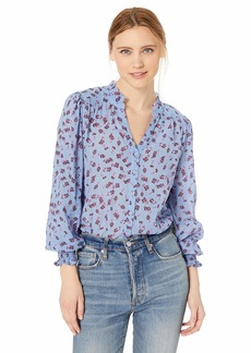 Parker Women's Sophie Long Sleeve Button Front Blouse  XS