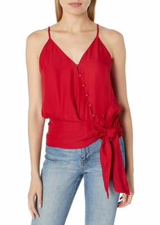 Parker Women's Teresa Sleeveless Button Front Tie Waist Top  XL