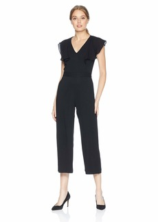 Parker Women's Tommi Flutter Sleeve v-Neck Cropped Jumpsuit