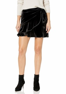 Parker Women's Velvet Skater Skirt with Front Bow Detail and Crystal Trims