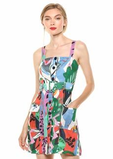 Parker Women's Weslyn Sleeveless Button Front Cargo Pocket Dress
