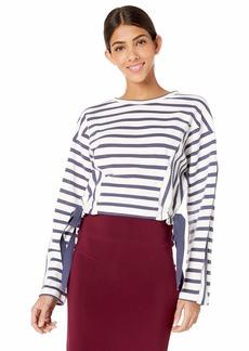 Parker Women's Yolanda Long Sleeve Ruched Waist Sweatshirt  M