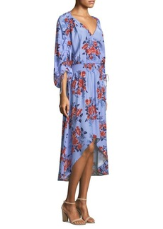 Parker Xiomara Floral Hi-Lo Dress