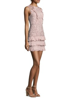Parker Zahara Combo Lace Mini Dress
