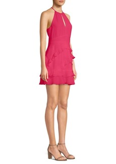 Parker Pixie Ruffled A-Line Halter Dress