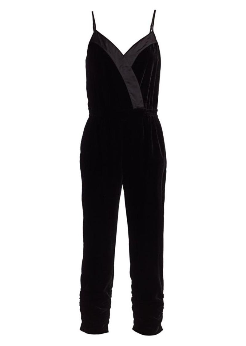 Parker Preston Velour Cropped Jumpsuit