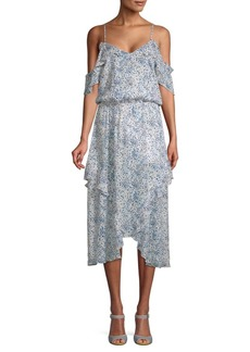 Parker Printed Cold-Shoulder Dress