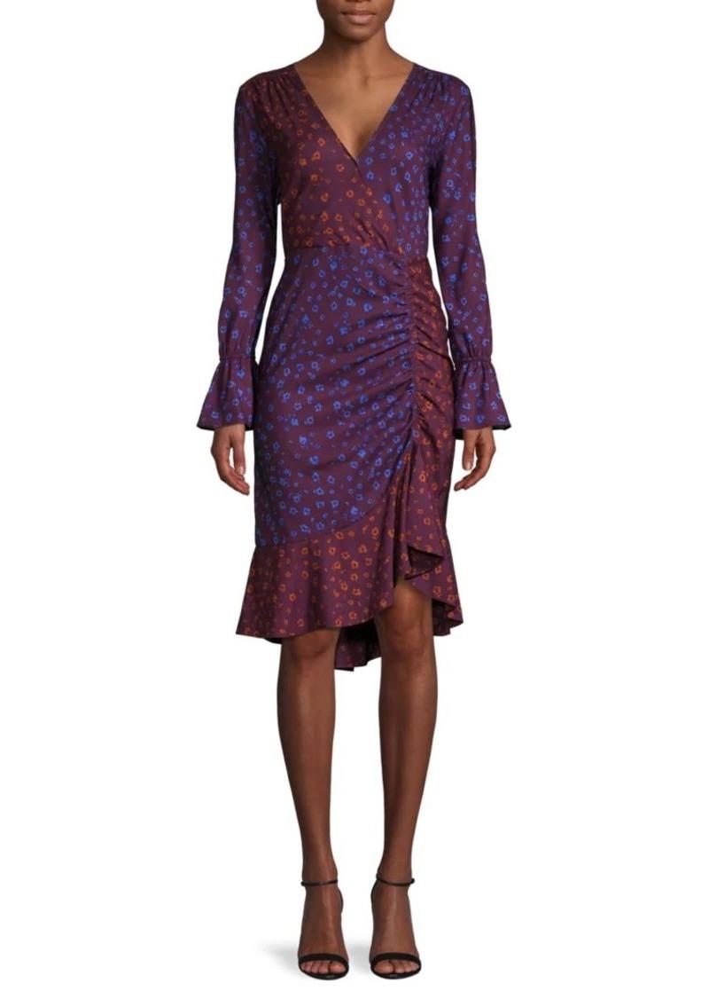 Parker Printed Faux Wrap Dress