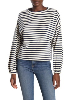 Parker Puff Sleeve Stripe Sweatshirt
