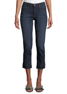 Parker Released-Hem Cropped Straight-Leg Jeans