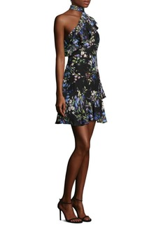 Parker Rodeo Floral One-Shoulder Silk Dress