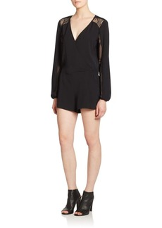 Parker Ross Mesh Panel Short Jumpsuit