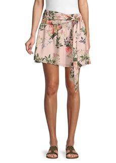 Parker Ruched Floral Skirt