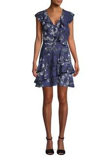 Parker Ruffled Floral A-Line Dress