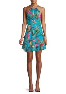 Parker Ruffled Floral Fit-&Flare Dress