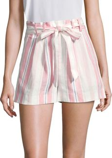 Parker Sage Striped Linen Shorts