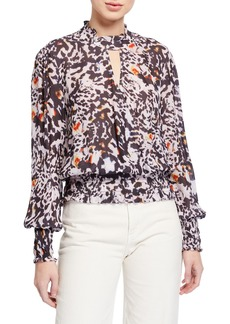 Parker Sammi Animal-Print Blouse