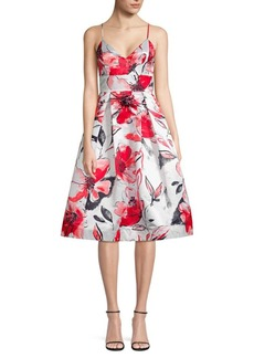 Parker Sana Floral Satin Sleeveless Dress