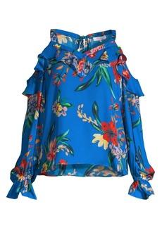 Parker Shaylie Floral Cold-Shoulder Top