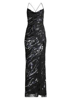 Parker Shayna Sequin Column Gown