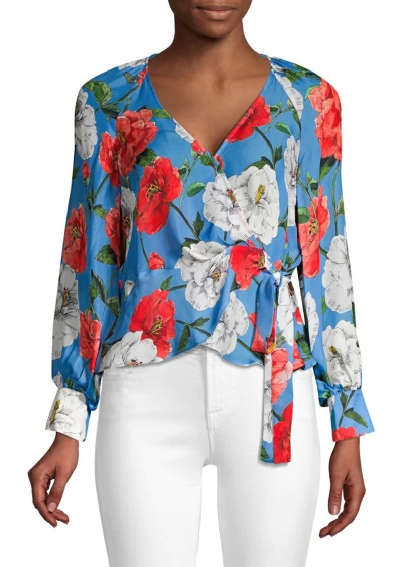 Parker Sheridan Long Sleeve Wrap Blouse