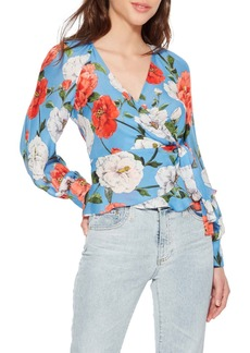Parker Sheridan Tropical Print Silk Blend Blouse