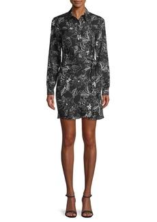 Parker Side-Tie Floral Shirtdress