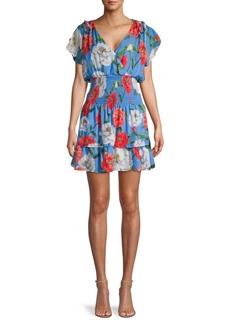 Parker Smocked Waist Floral Mini Dress