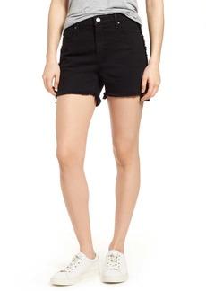 Parker Step Hem Frayed Denim Shorts
