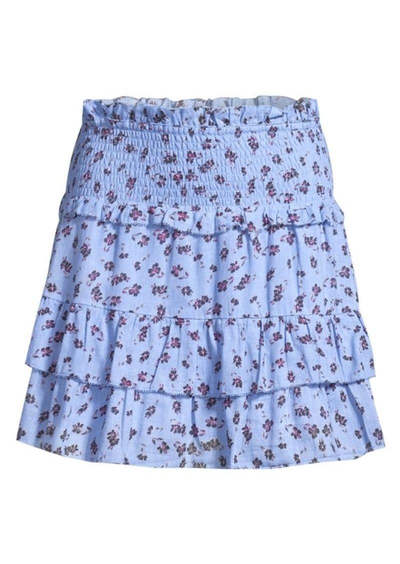 Parker Sugar Floral Ruffle Mini Skirt