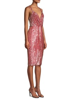 Parker Umi Beaded Plunging Sheath Dress