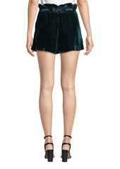 Parker Vale Velvet High-Rise Belted Shorts