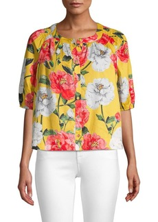 Parker Veera Foral Puff Sleeve Blouse