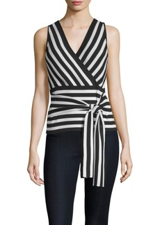 Parker Winifred Stripe Wrap Top