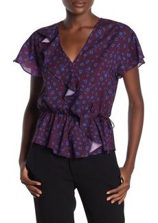 Parker Wrap Style Leopard Print Blouse