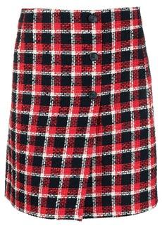 P.A.R.O.S.H. A-line checked skirt
