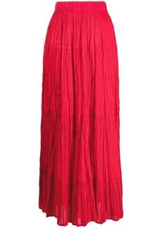 P.A.R.O.S.H. A-line cotton seersucker skirt