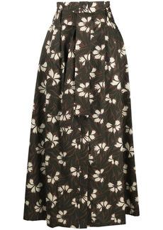 P.A.R.O.S.H. A-line floral print skirt