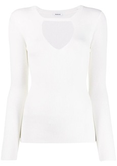 P.A.R.O.S.H. cut-out ribbed jumper
