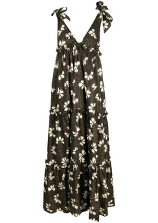 P.A.R.O.S.H. floral-print midi dress