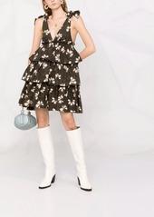 P.A.R.O.S.H. floral-print ruffled dress