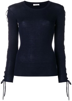 P.A.R.O.S.H. laced sleeves knitted top