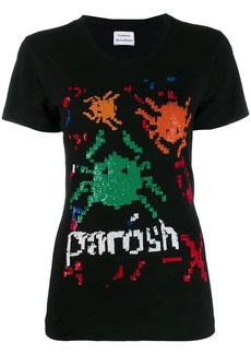 P.A.R.O.S.H. logo embroidered T-shirt