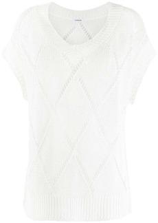 P.A.R.O.S.H. open-knit short-sleeve jumper